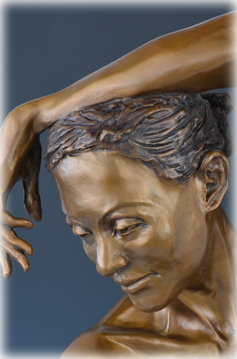 Après Le Bain bronze sculpture by David Varnau