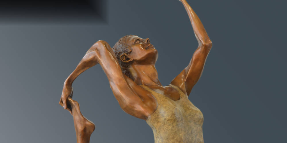 Ananda bronze sculpture by David Varnau