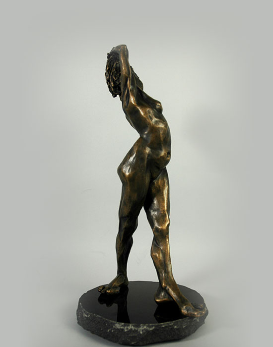 Odalisque III bronze sculpture by David Varnau
