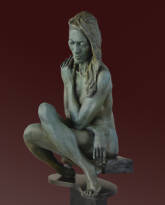 Transfixed bronze sculpture by David Varnau