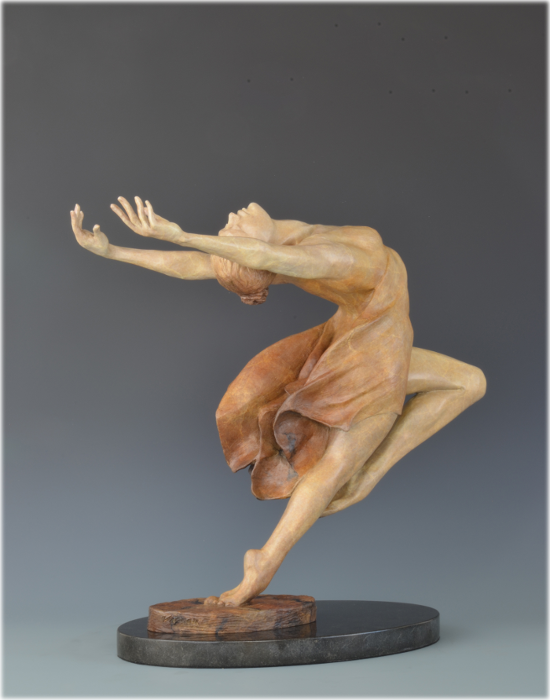 Yes! bronze sculpture by David Varnau